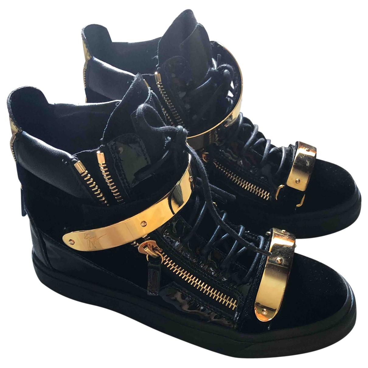 Giuseppe Zanotti - Baskets   pour femme en cuir - noir