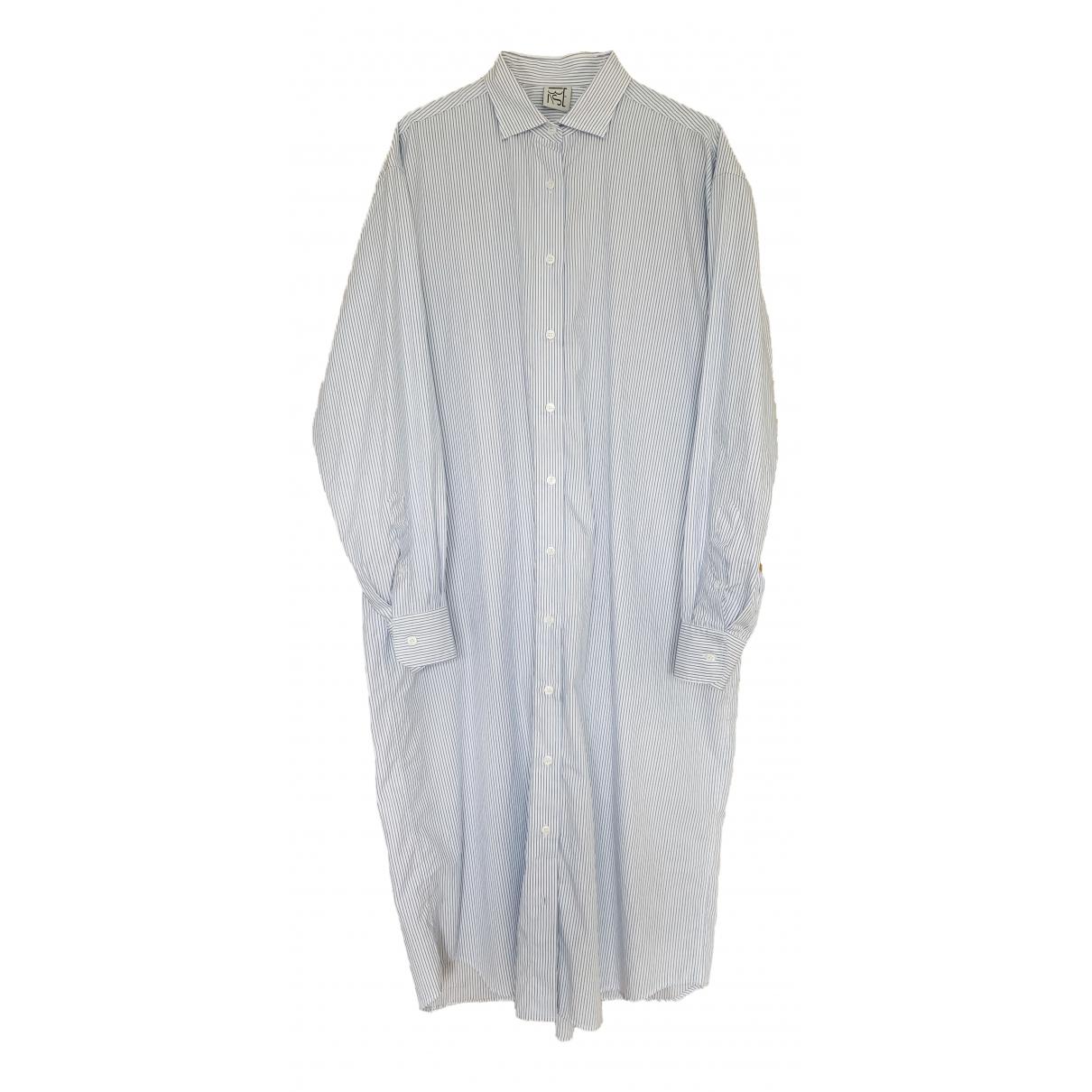 Baserange \N Kleid in  Weiss Baumwolle