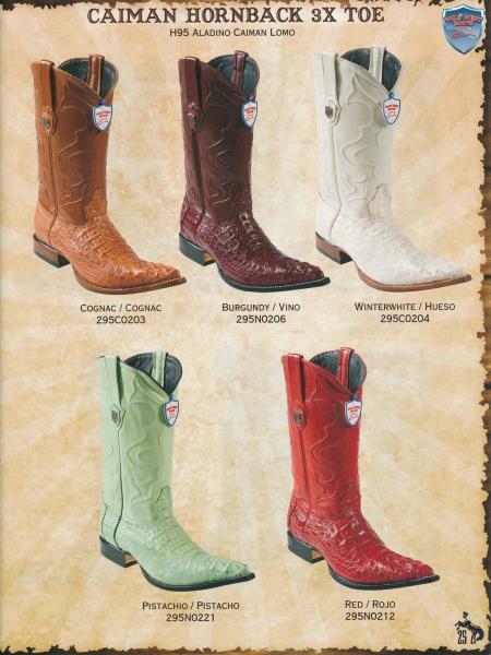 XXXToe Caiman Hornback Mens Cowboy Western Boots Diff.Colors/Sizes