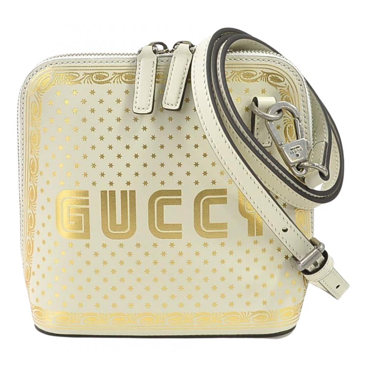 Gucci - Sac a main Guccy minibag pour femme en cuir - beige