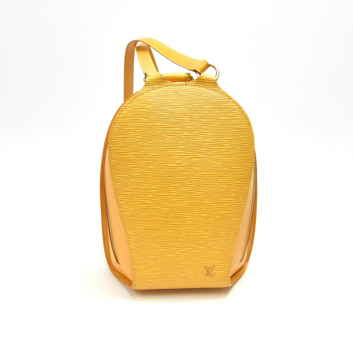Louis Vuitton - Sac a dos Mabillon pour femme en cuir - jaune