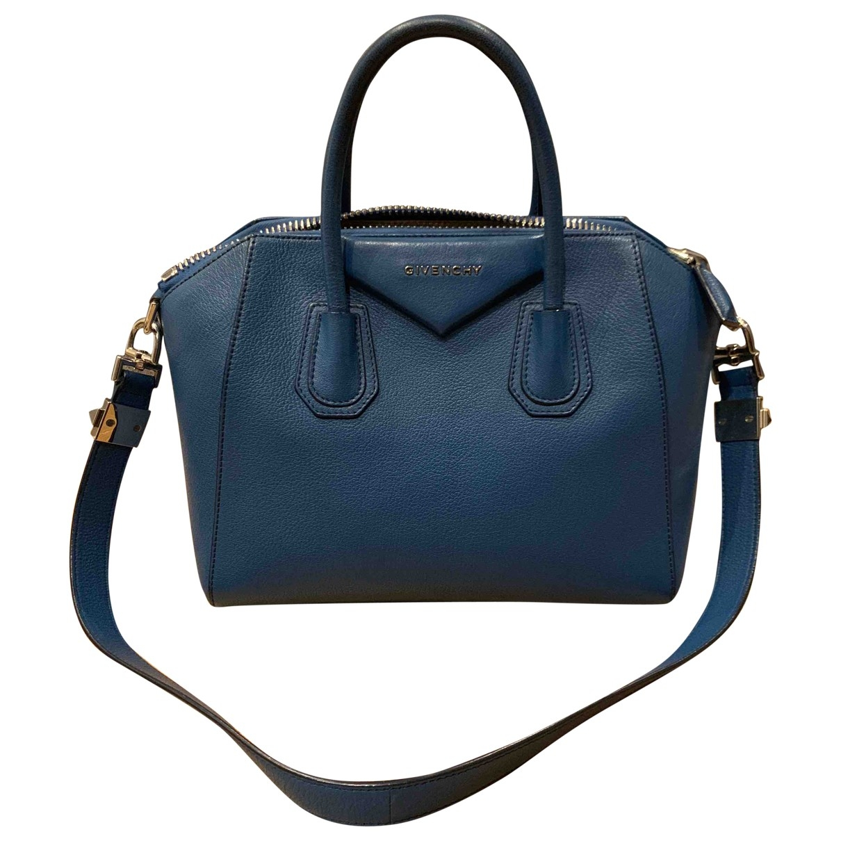 Givenchy Antigona Handtasche in  Blau Leder