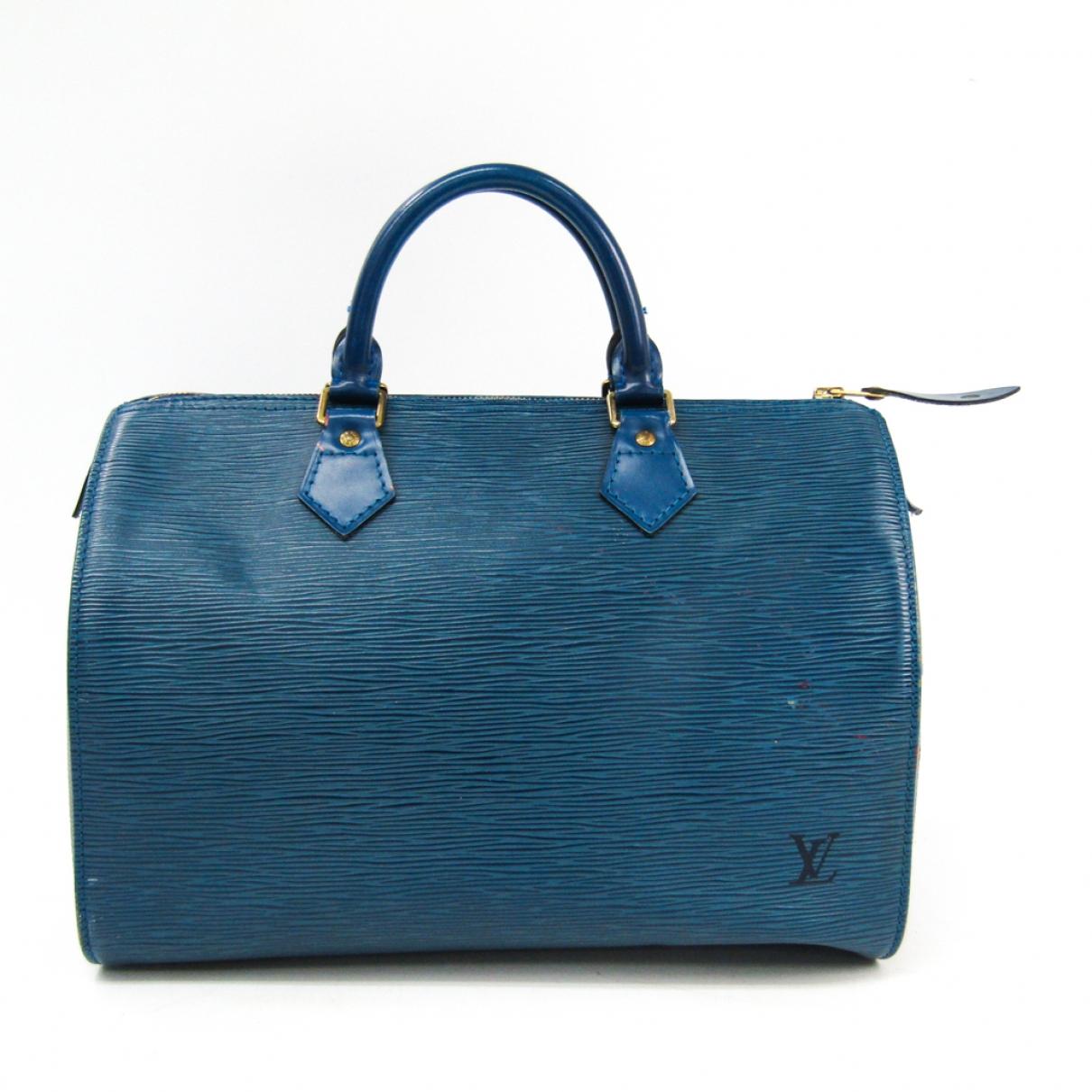 Louis Vuitton Speedy Blue Leather handbag for Women \N