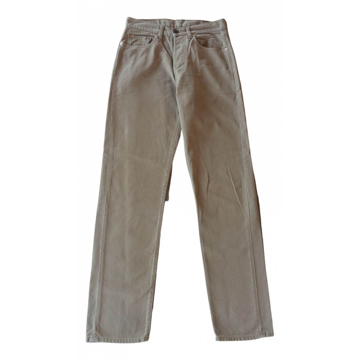 Levi's \N Camel Cotton Trousers for Women 40 FR