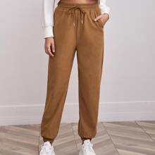 Slant Pocket Drawstring Pants