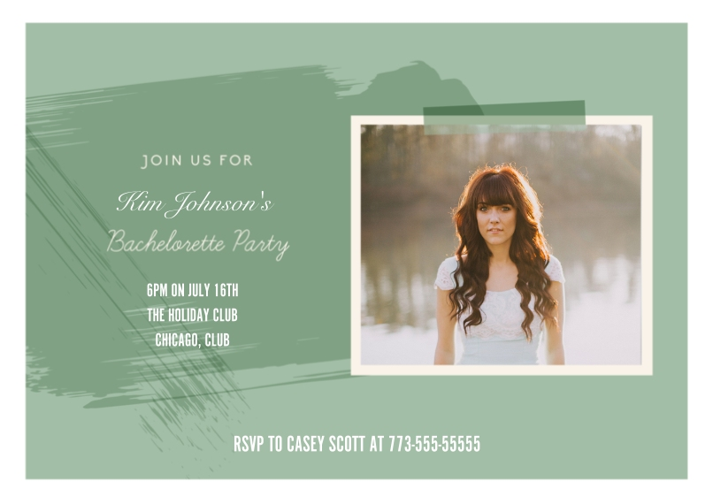 Wedding Shower Invites 5x7 Cards, Premium Cardstock 120lb with Rounded Corners, Card & Stationery -Paint Bachelorette Party Invitation Set