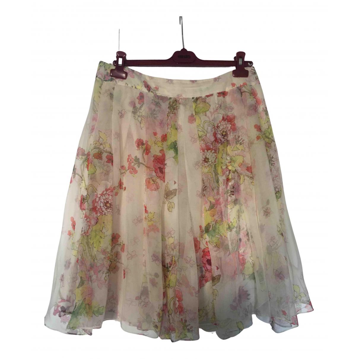 Kenzo N Ecru Silk skirt for Women 42 FR