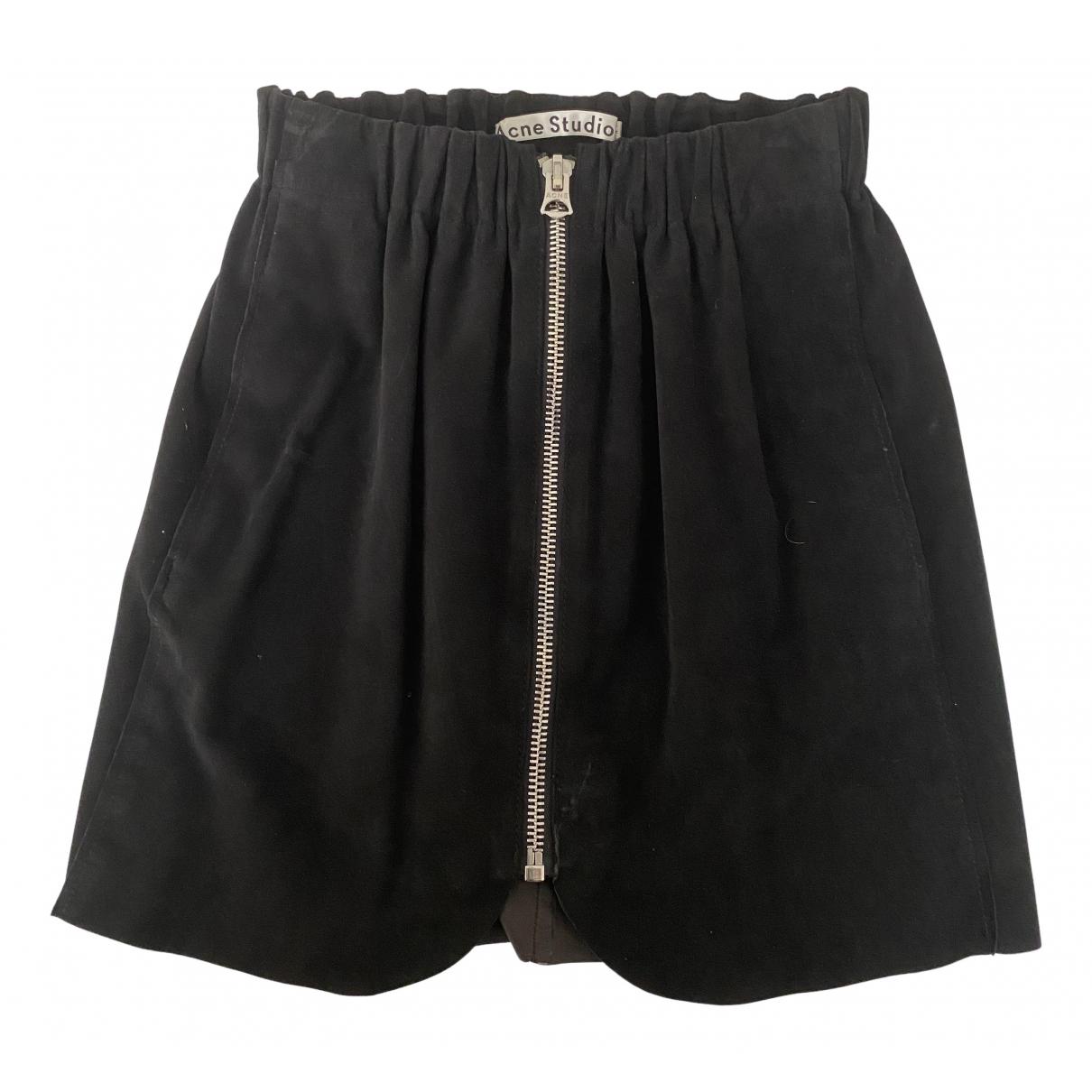 Acne Studios \N Black Suede skirt for Women 34 FR