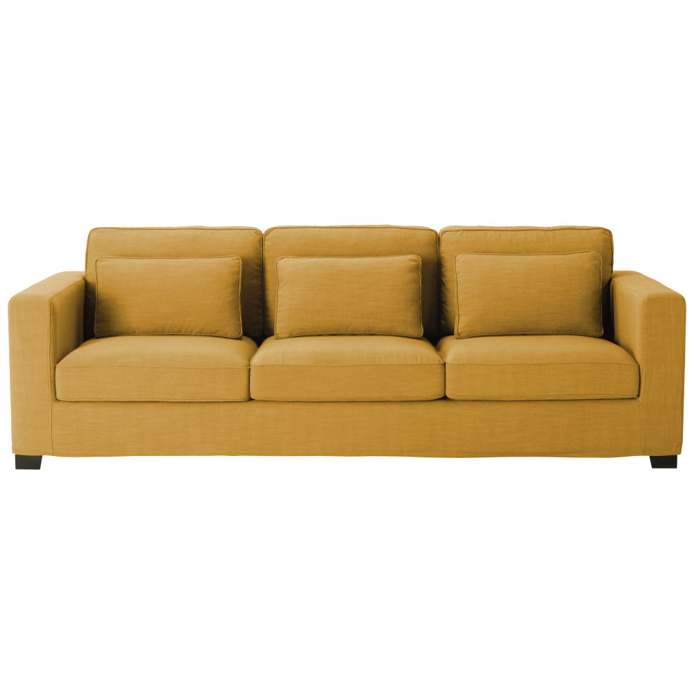 4-Sitzer-Sofa, senfgelb Milano