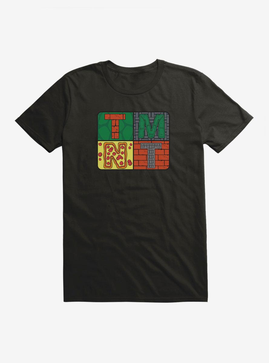 Teenage Mutant Ninja Turtles Brick Pizza Badge T-Shirt