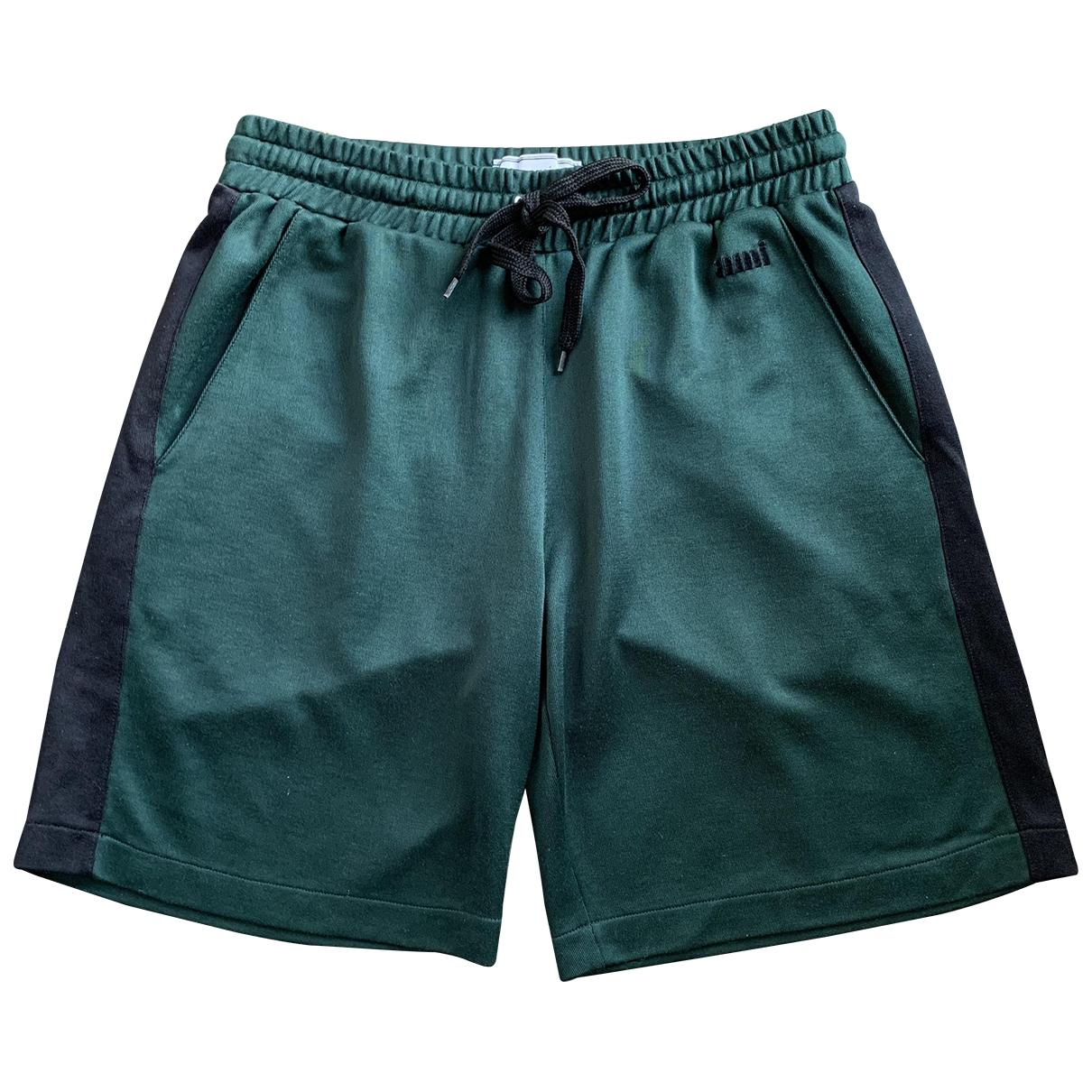 Ami \N Green Cotton Shorts for Men XS International