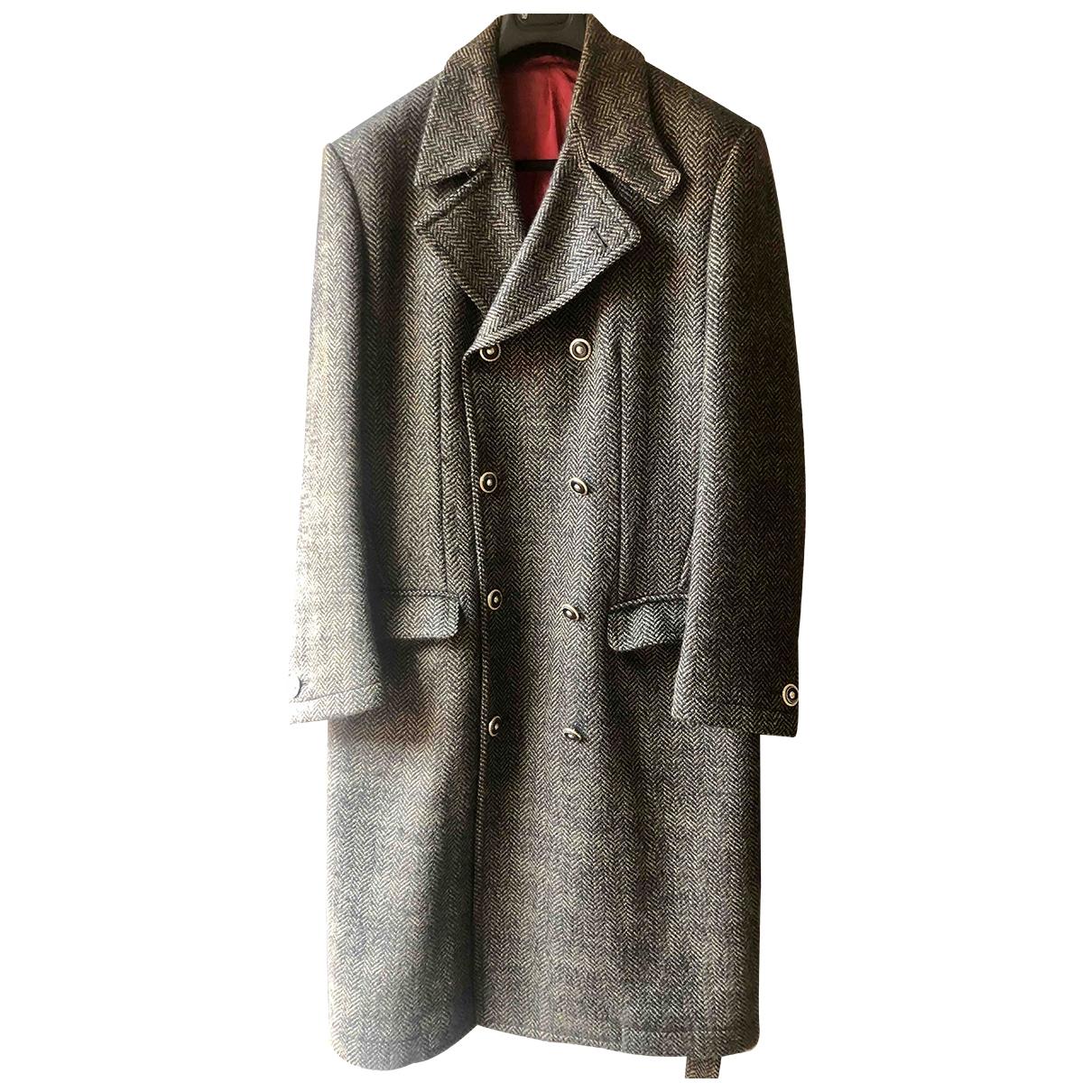 Versace - Manteau   pour homme en laine - beige