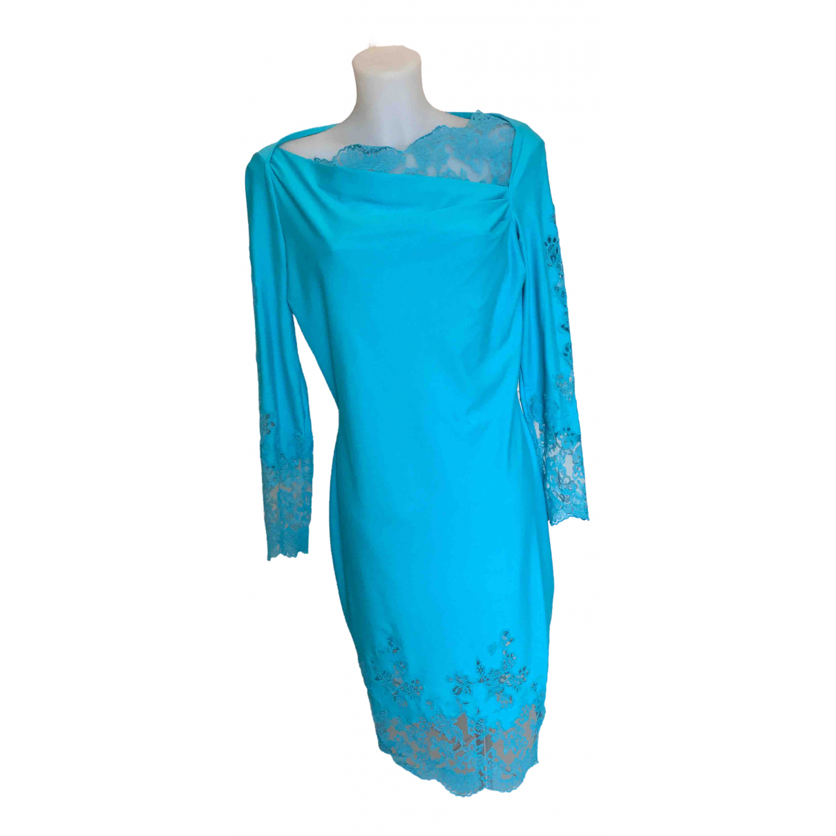 Ermanno Scervino \N Kleid in  Tuerkis Polyester