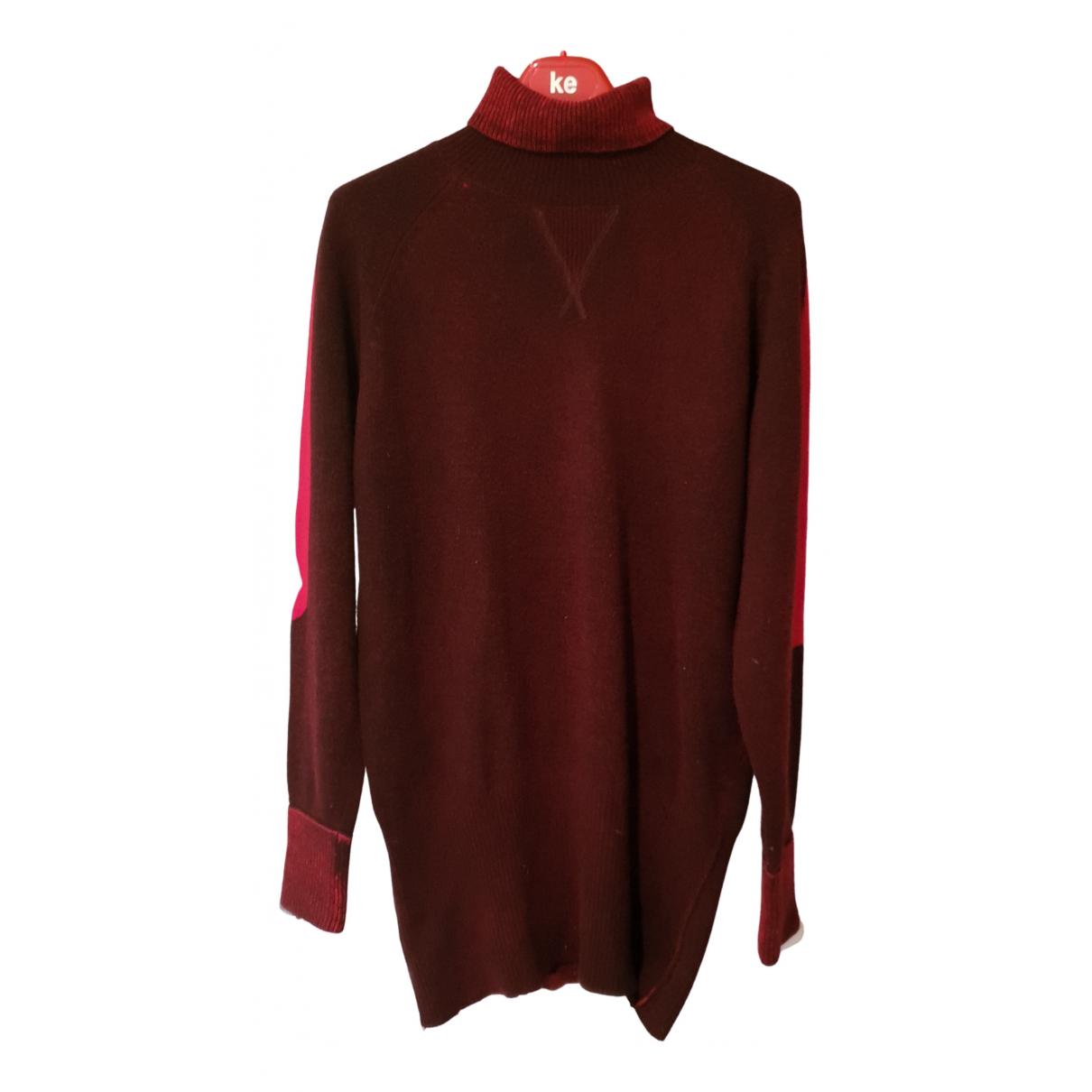 Evisu \N Pullover.Westen.Sweatshirts  in  Bordeauxrot Wolle