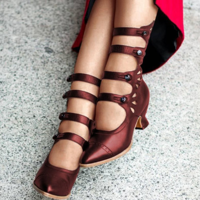 Ericdress Plain Pointed Toe Hasp PU Boots