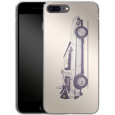 Apple iPhone 8 Plus Silikon Handyhuelle - Delorean von Florent Bodart