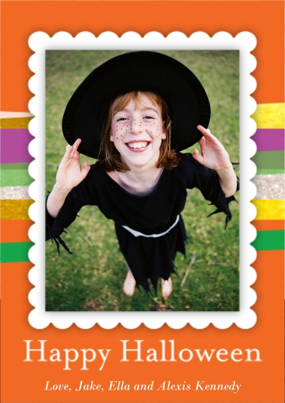 Halloween Photo Cards 5x7 Cards, Premium Cardstock 120lb with Rounded Corners, Card & Stationery -Modern Halloween