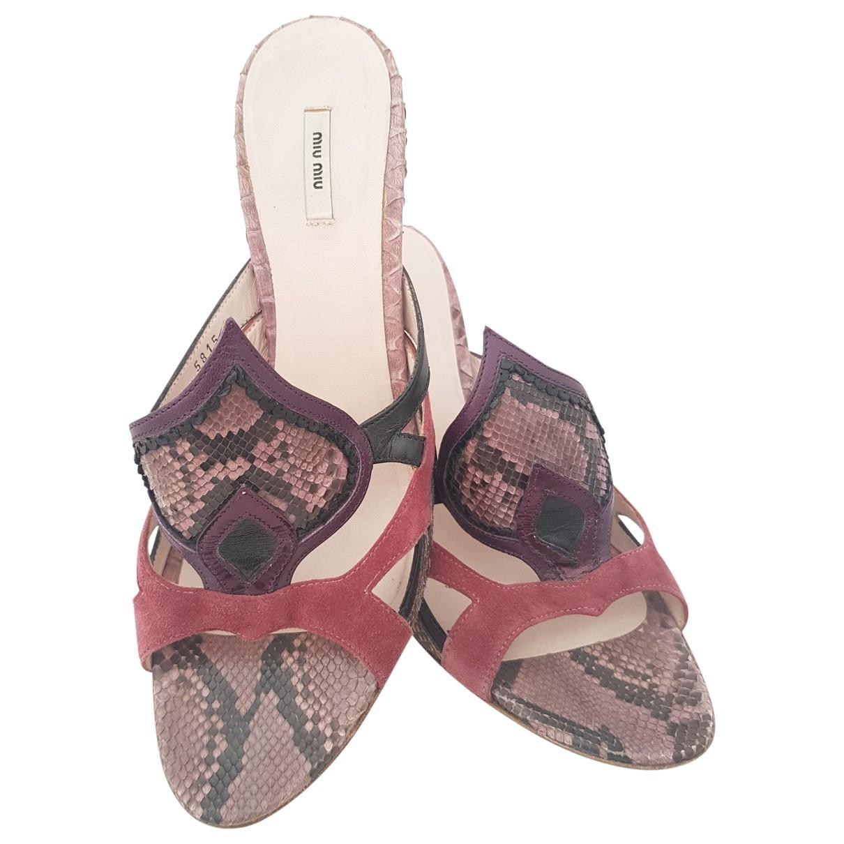 Sandalias de Cueros exoticos Miu Miu