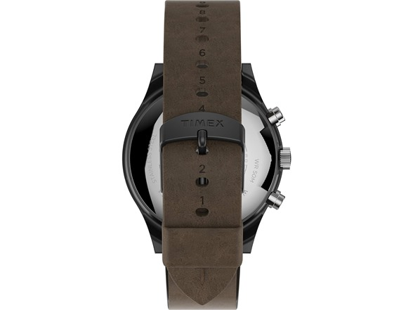 Timex Mens Ss Analogquartz Leather Watch