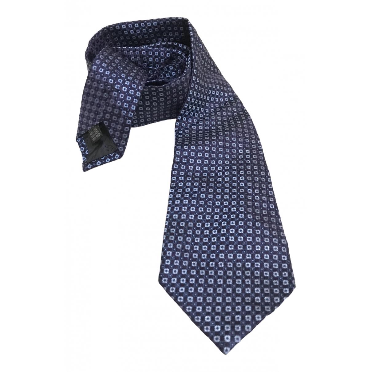 Balmain \N Krawatten in  Blau Seide