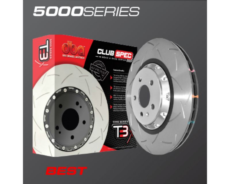 DBA Front Slotted 5000 Series 2Pc Uni-Directional Rotor Hyundai Genesis Coupe 2013
