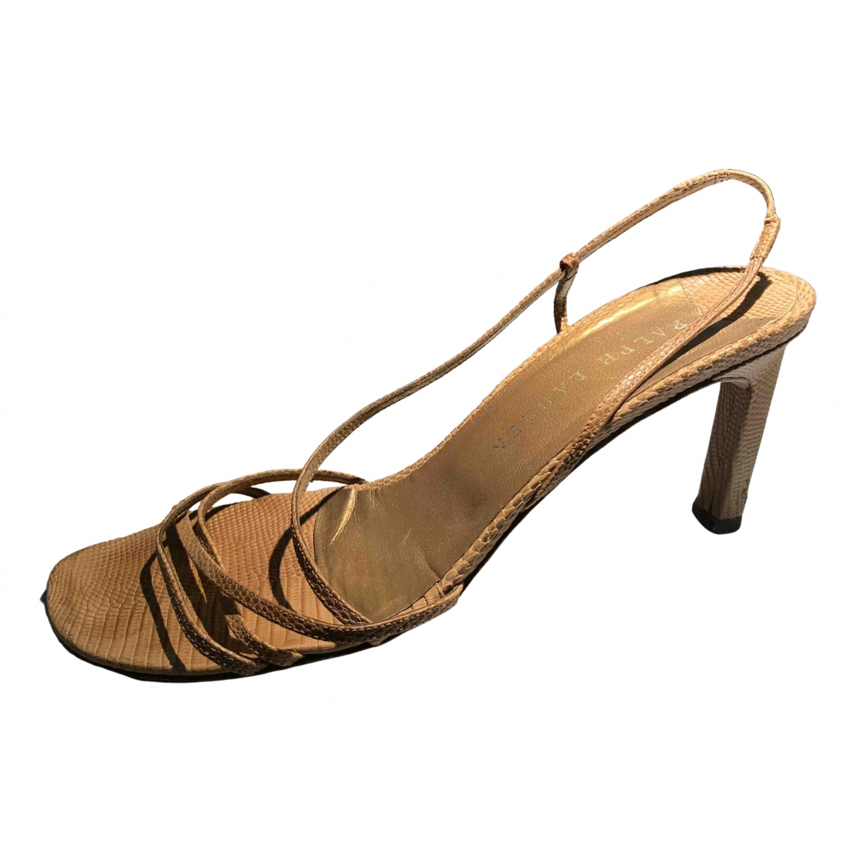 Ralph Lauren N Camel Exotic leathers Sandals for Women 37 EU