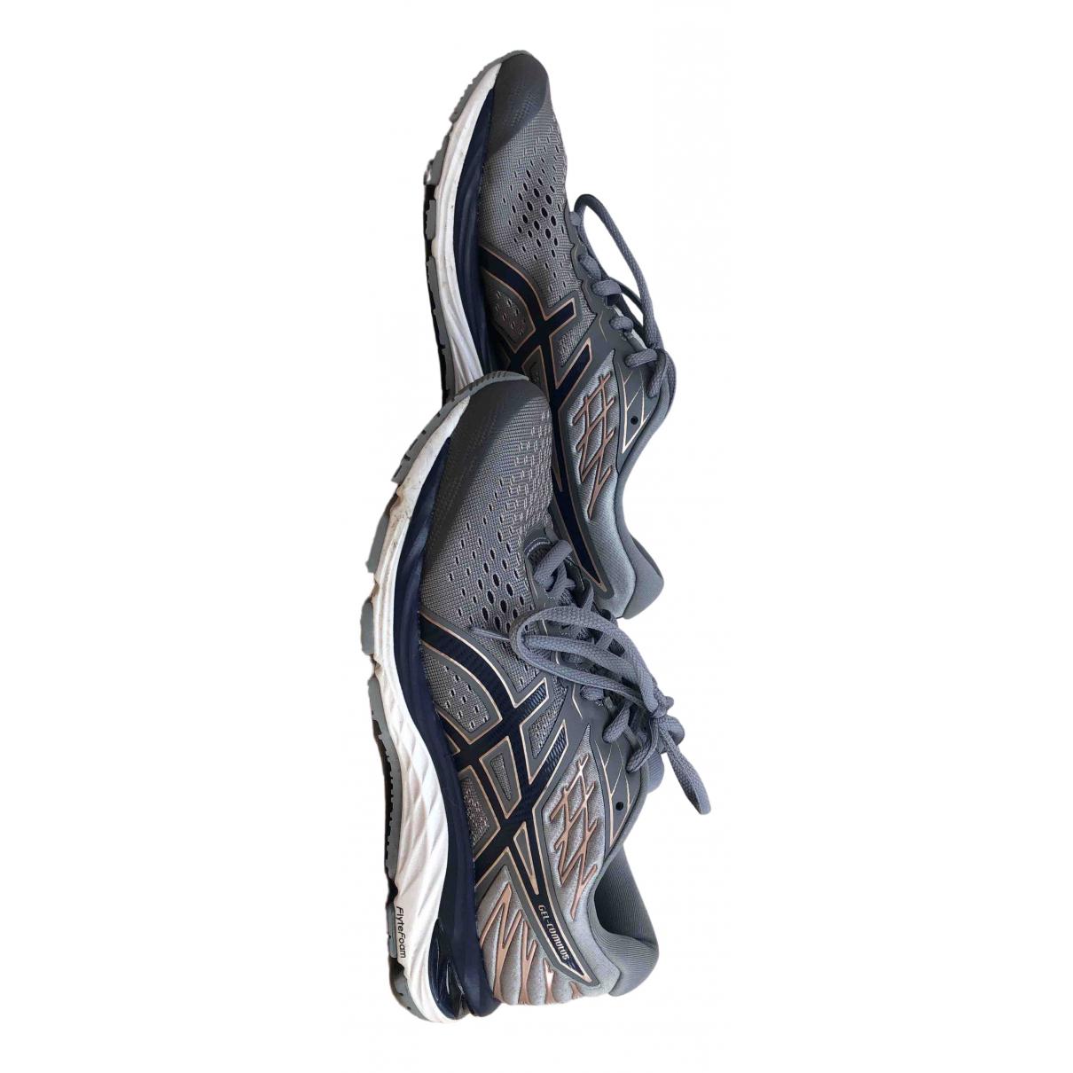 Asics \N Sneakers in  Grau Leinen