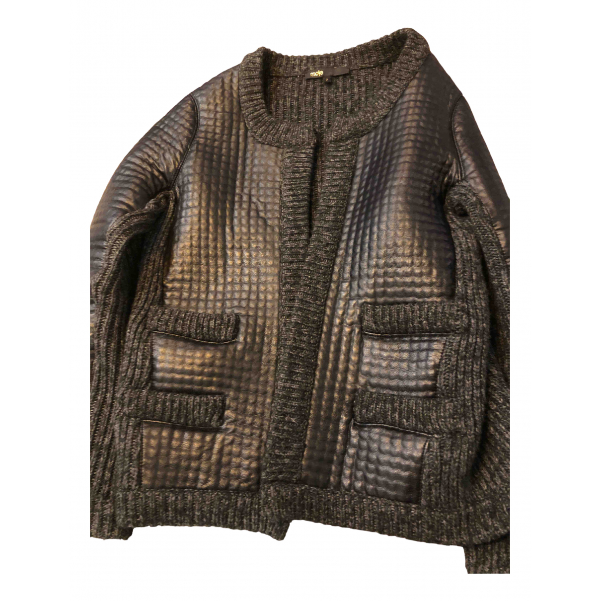 Maje - Veste   pour femme en laine - gris