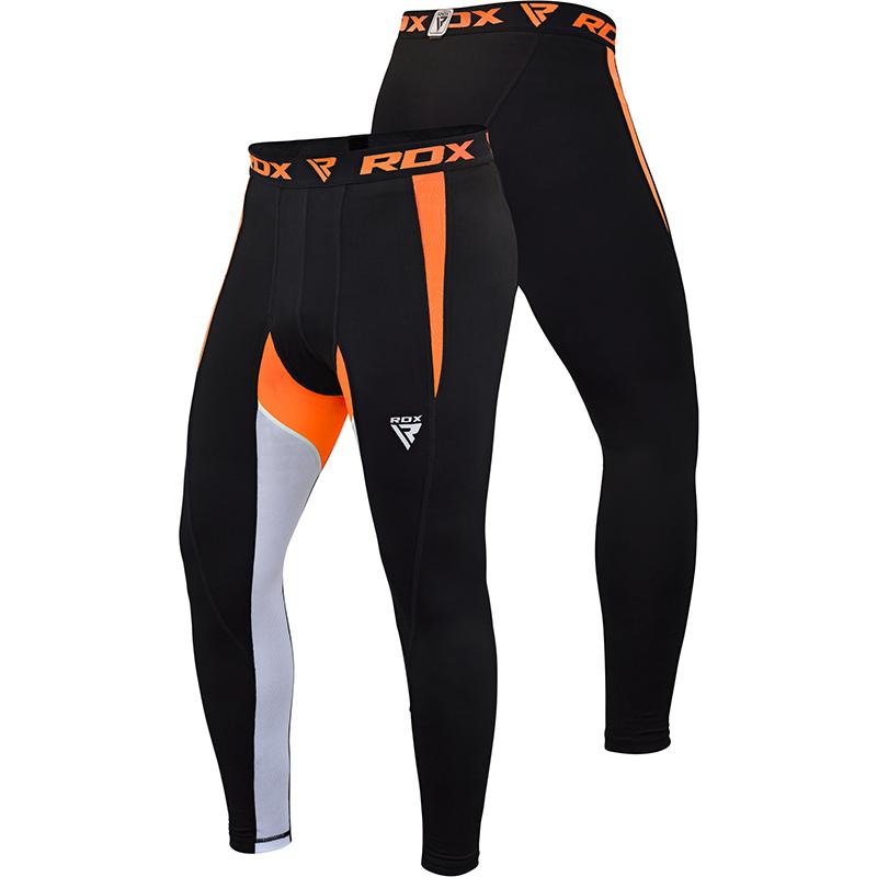 RDX X3 Thermique Short de Compression Grande  Orange Neoprene