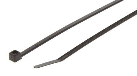 HellermannTyton , T30LR Series Black Nylon Cable Tie, 260mm x 3.3 mm