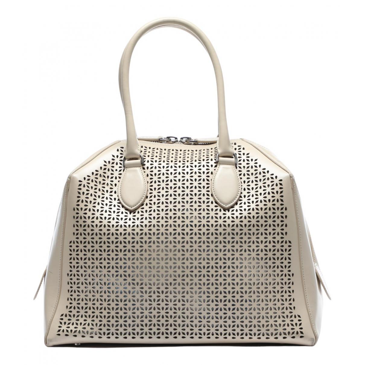 Alaia \N Handtasche in  Ecru Leder