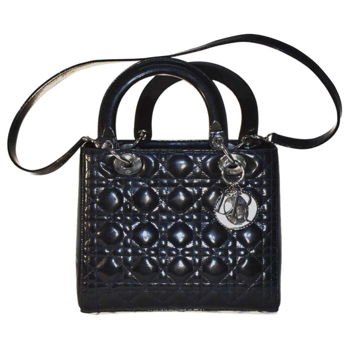 Dior Lady Dior Blue Patent leather handbag for Women \N