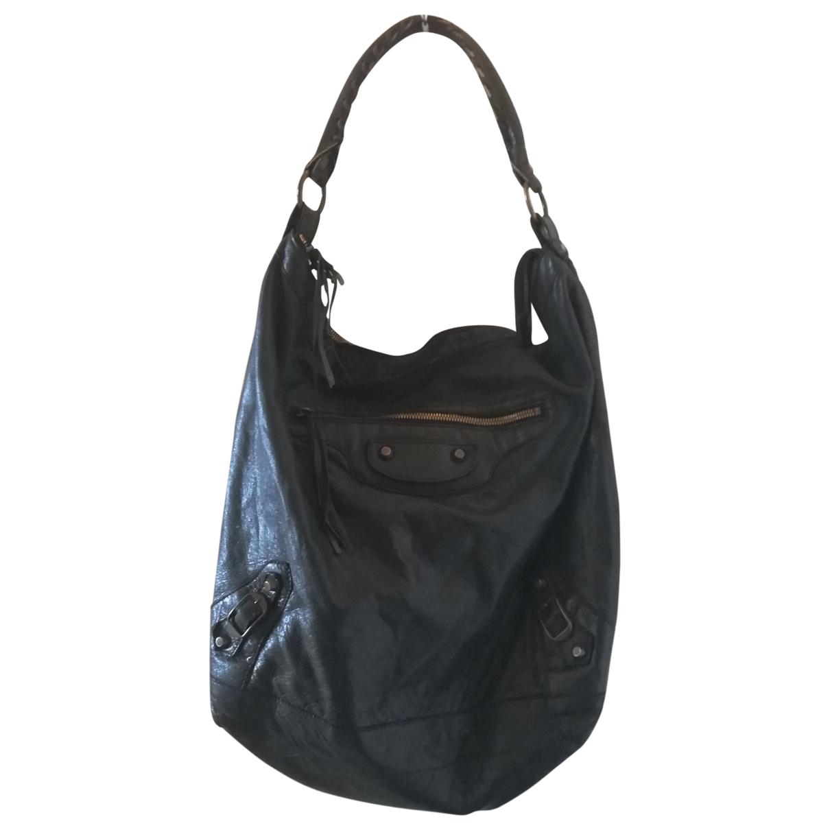 Balenciaga Courier XL Handtasche in  Schwarz Leder