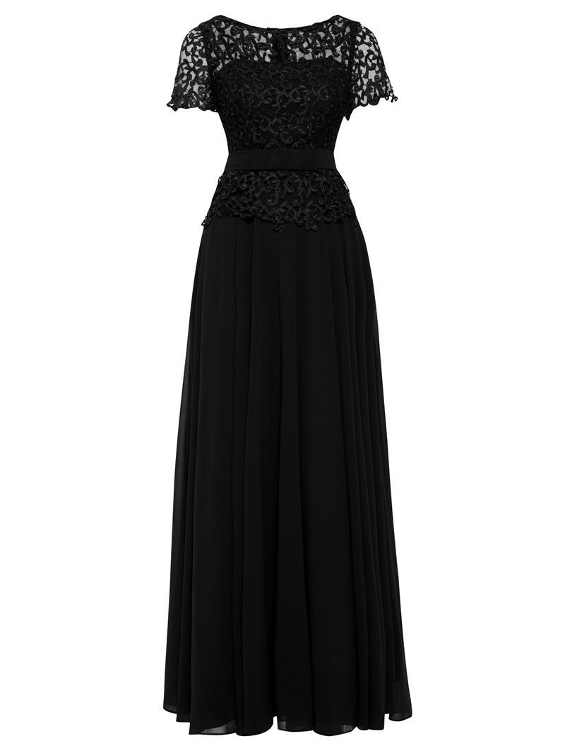 Ericdress Scoop Neck Short Sleeves Lace Evening Dress