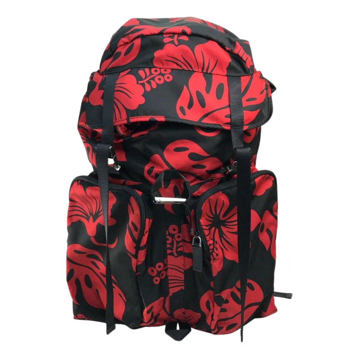 Prada N Red Cloth backpack for Women N