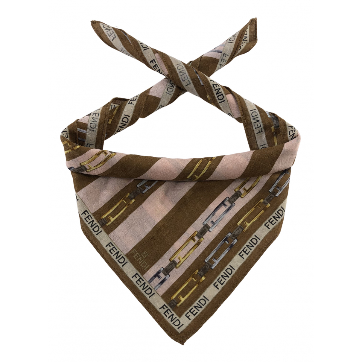 Fendi N Multicolour Cotton Silk handkerchief for Women N