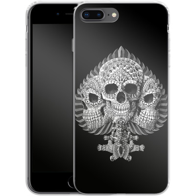 Apple iPhone 7 Plus Silikon Handyhuelle - Skull Spade von BIOWORKZ