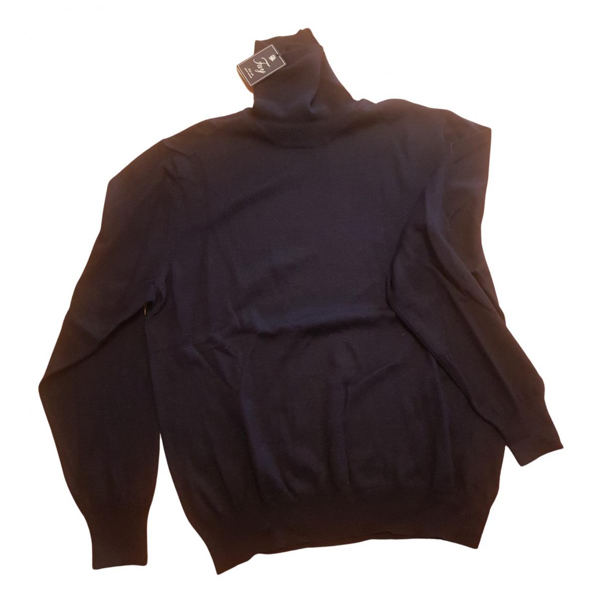 Fay - Pulls.Gilets.Sweats   pour homme en laine - bleu