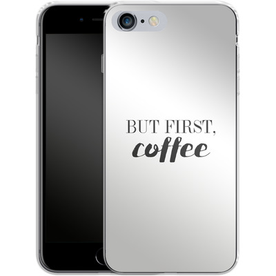 Apple iPhone 6s Plus Silikon Handyhuelle - But first, coffee! von Erik Scholz