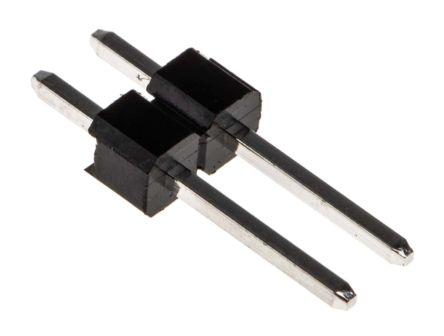 RS PRO , 2 Way, 1 Row, Straight Pin Header (25)