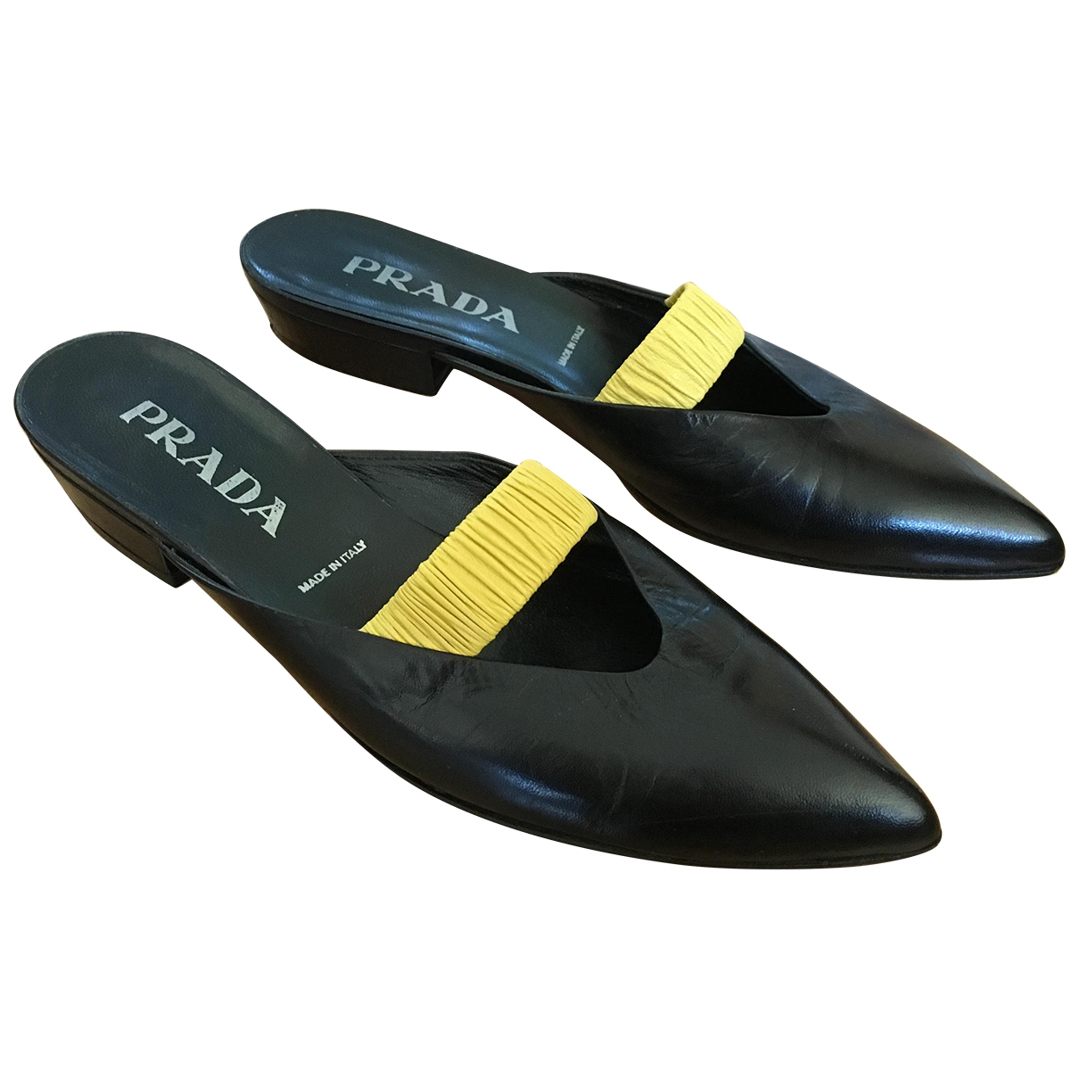 Prada \N Black Leather Heels for Women 37 IT
