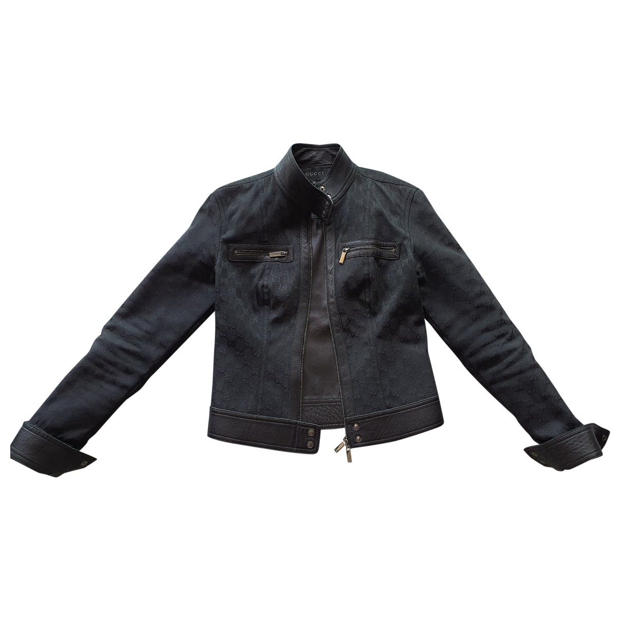 Gucci \N Black Denim - Jeans jacket for Women 38 IT