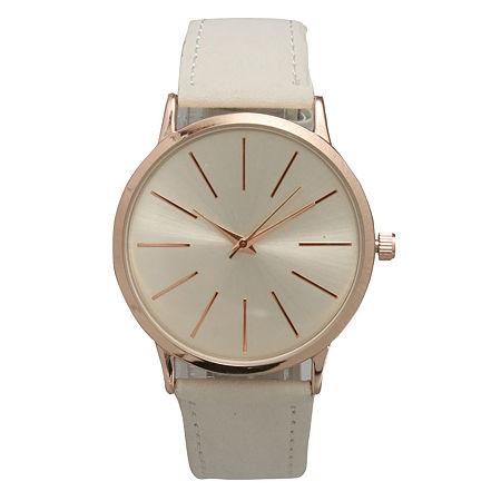 Olivia Pratt Womens White Strap Watch-16243, One Size , No Color Family