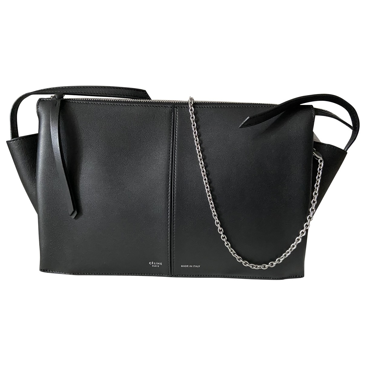 Celine Tri-Fold Black Leather handbag for Women \N