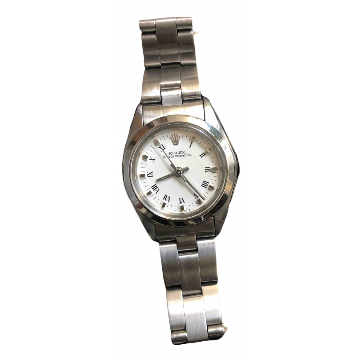 Rolex Lady Oyster Perpetual 24mm Silver Steel watch for Women \N
