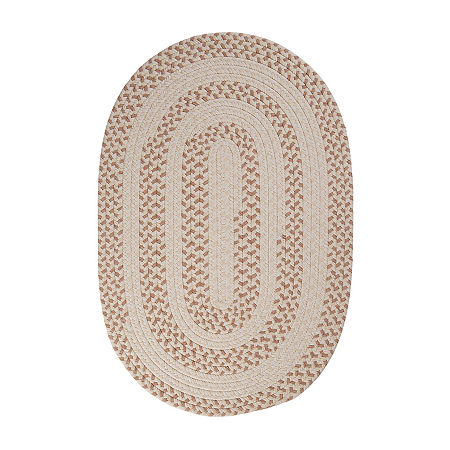 Colonial Mills Softweave Braided Oval Reversible Indoor Rugs, One Size , Yellow