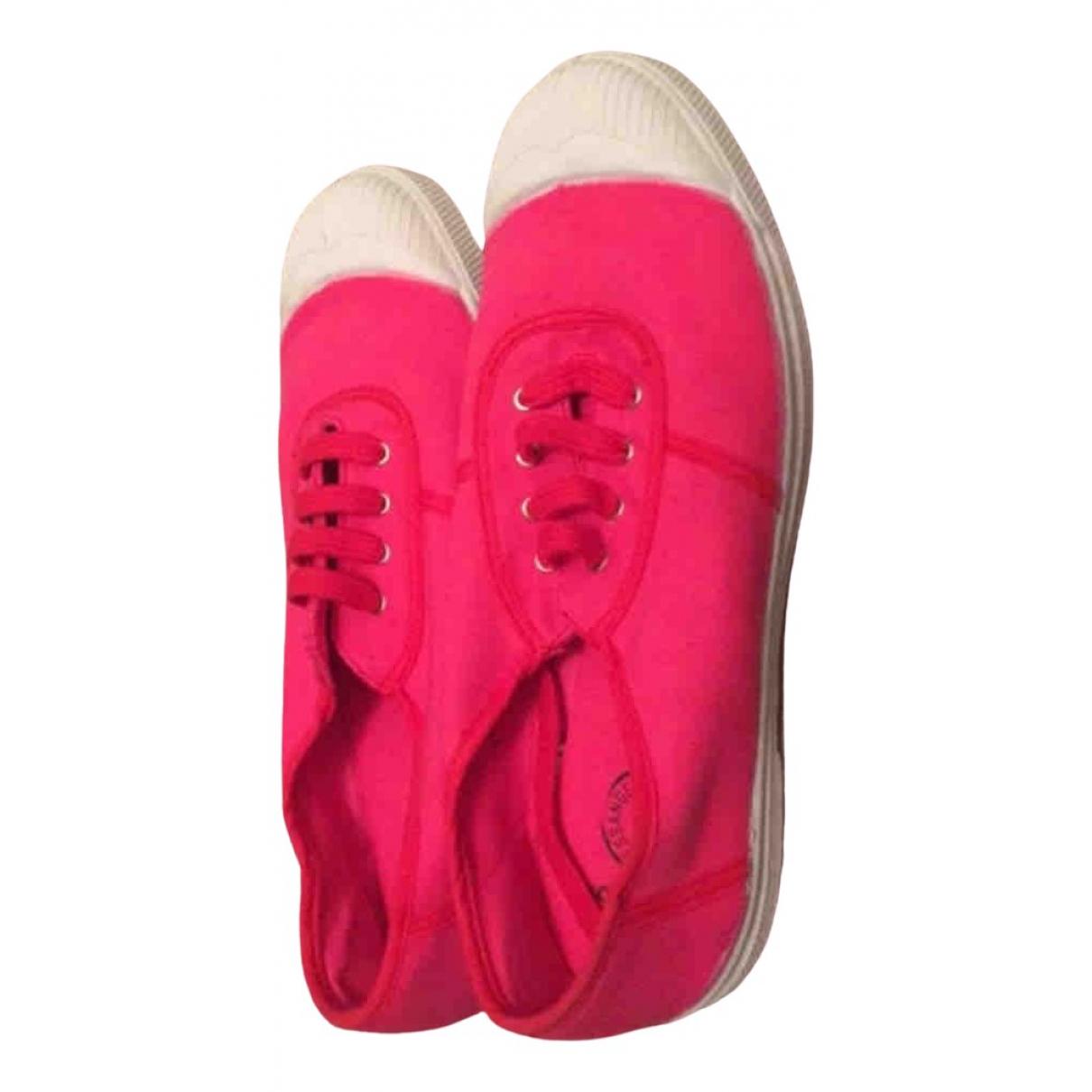 Bensimon \N Sneakers in  Rosa Leinen
