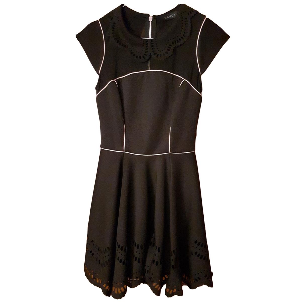 Mangano \N Kleid in  Schwarz Synthetik