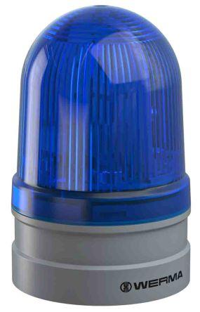 Werma EvoSIGNAL Midi Blue LED Beacon, 115-230 V, Base-Mounted