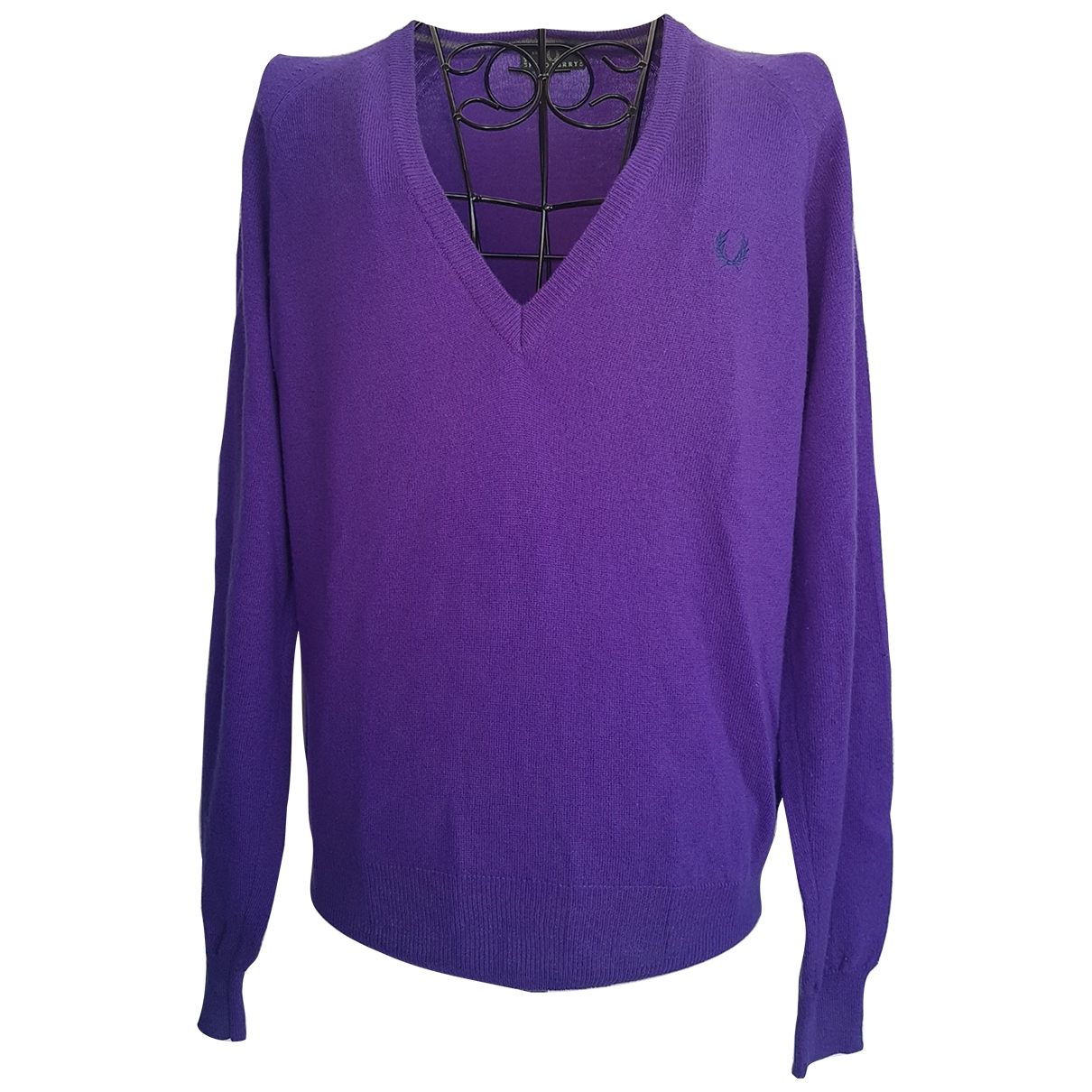 Fred Perry \N Pullover in  Lila Wolle